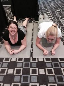 """Plank Challenge"" at marketing event - Kristina's still going!"
